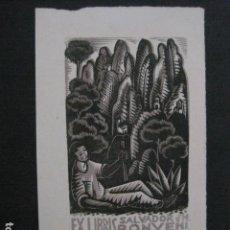Arte: EX LIBRIS - SALVADOR BONVEHI - VER FOTOS -(X-2031). Lote 91295380