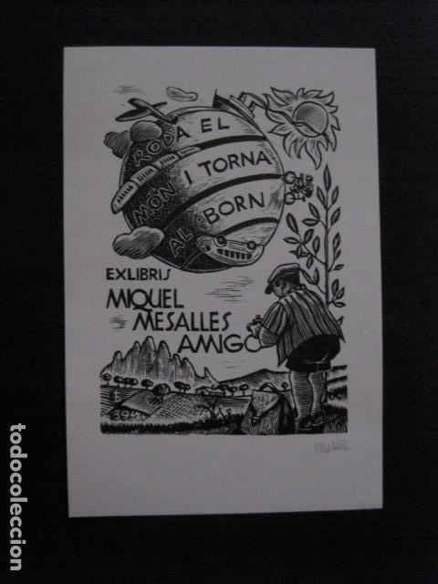 EX LIBRIS - MIQUEL MESALLES - VER FOTOS -(X-2051) (Arte - Ex Libris)