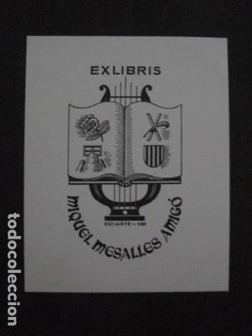 EX LIBRIS - MIQUEL MESALLES - VER FOTOS -(X-2069) (Arte - Ex Libris)