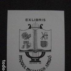 Arte: EX LIBRIS - MIQUEL MESALLES - VER FOTOS -(X-2069). Lote 91302150