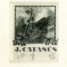 Arte: ROSSELL, RAIMUNDO (1924-). EX LIBRIS PARA J CATASÚS. Lote 91390845