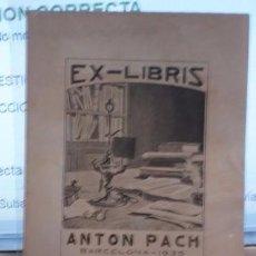Arte: EX-LIBRIS ANTON PACH - PORTAL DEL COL·LECCIONISTA *****. Lote 91932335