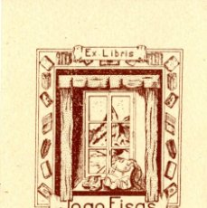 Arte: E. GAVILÁN. EX LIBRIS PARA JOAN FISAS.. Lote 92060300