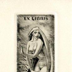 Arte: FERNÁNDEZ SÁEZ, J. (1924-). EX LIBRIS PARA JOCELYN MERCIER. Lote 93949625