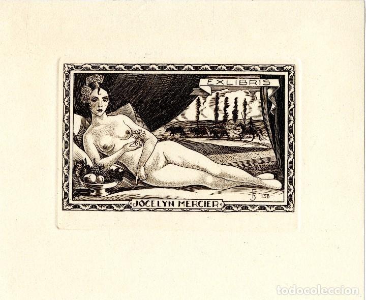 FERNÁNDEZ SÁEZ, J (1924-) EX LIBRIS PARA JOCELYN MERCIER (Arte - Ex Libris)