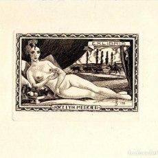 Arte: FERNÁNDEZ SÁEZ, J (1924-) EX LIBRIS PARA JOCELYN MERCIER. Lote 93949965