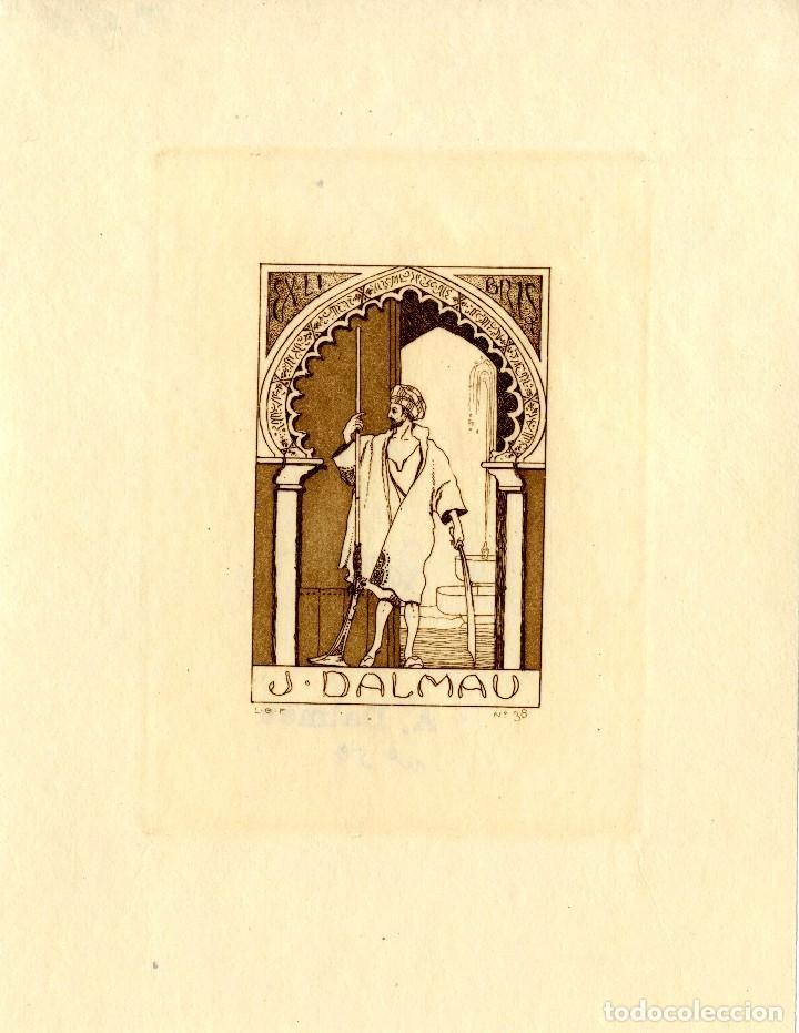 GARCÍA FALGÁS, L. ( 1881-1954)- EX LIBRIS PARA J. DALMAU (Arte - Ex Libris)