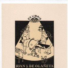 Arte: EX-LIBRIS DE JUAN J. DE OLAÑETA - AUTOR MERCEDES DE OLAÑETA Nº 4. Lote 94327858
