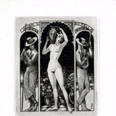 Arte: FERNÁNDEZ SÁEZ, J (1924-) EX LIBRIS PARA JUAN V. BOTELLA. Lote 96263251