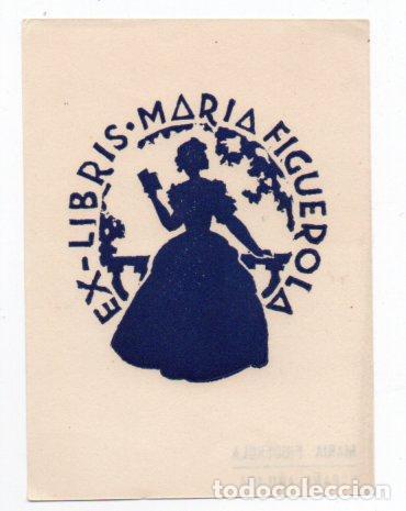 EX-LIBRIS DE MARIA FIGUEROLA - AUTOR MARIA FIGUEROLA (Arte - Ex Libris)