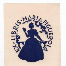 Arte: EX-LIBRIS DE MARIA FIGUEROLA - AUTOR MARIA FIGUEROLA. Lote 96498955