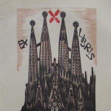 Arte: EXLIBRIS - SAGRADA FAMILIA - LLUIS Mª PARES SELLENT. Lote 97017279