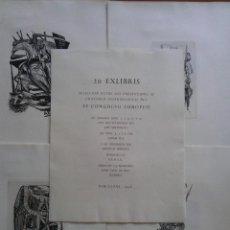 Arte: 1958 - 20 EX LIBRIS SELECCIÓN DEL VI CONGRESO EUROPEO BARCELONA . Lote 97617175