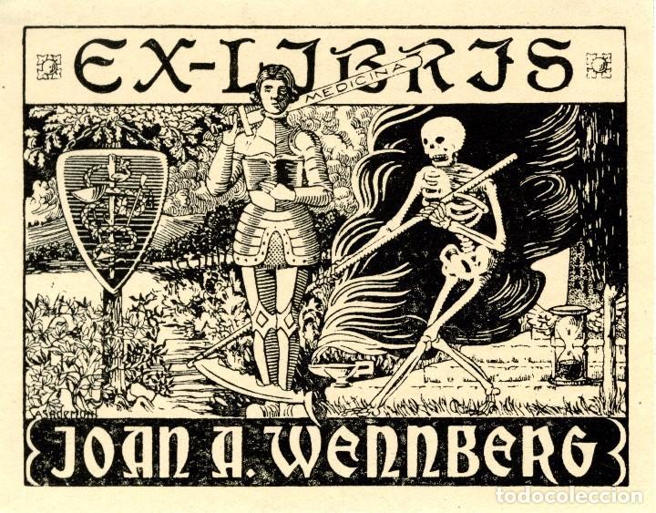 CASADEMUNT, MODESTO DE. EX LIBRIS PARA JOAN A. WENNBERG (Arte - Ex Libris)