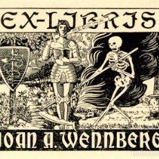 Arte: CASADEMUNT, MODESTO DE. EX LIBRIS PARA JOAN A. WENNBERG. Lote 99213407