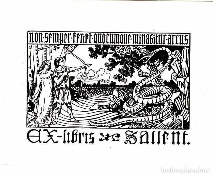 CASADEMUNT, MODEST. EX LIBRIS PARA SALLENT (Arte - Ex Libris)