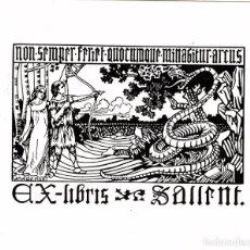 Arte: CASADEMUNT, MODEST. EX LIBRIS PARA SALLENT. Lote 99354959