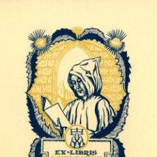 Arte: ANGLADA VILLÁ, JOAN. XII EX-LIBRIS MONSERRATINS PARA ANGEL BATLLE. Lote 101007487