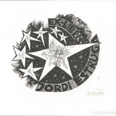 Arte: EX-LIBRIS FIRMADO REALIZADO POR ORIOL Mª DIVI PARA JORDI ESTRUGA. Lote 103721255