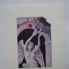 Arte: EX-LIBRIS EXLIBRIS BOOKPLATE GRAMALOVÁ. ANGEL DESNUDO. Lote 103954563