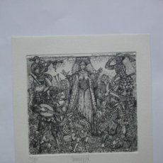 Arte: EX-LIBRIS EXLIBRIS BOOKPLATE JÜRGEN. ERÓTICO DESNUDO MÚSICA LAÚD VIOLA GAITA TAMBOR TROMPETA. Lote 103957787