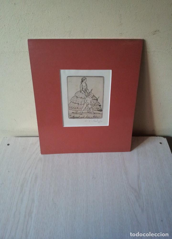 EX-LIBRIS GRABADO ORIGINAL DE MARTIN ERICH PHILIPP - MARGIT UND LEO ADLER - 50 COPIAS FIRMADAS 1921 (Arte - Ex Libris)