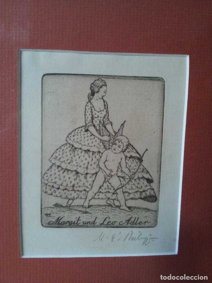 Arte: EX-LIBRIS GRABADO ORIGINAL DE MARTIN ERICH PHILIPP - MARGIT UND LEO ADLER - 50 COPIAS FIRMADAS 1921 - Foto 2 - 108272195