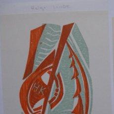 Arte: A.73 EX-LIBRIS EXLIBRIS BOOKPLATE HELGA LANGE. WINDSURF. Lote 109440443