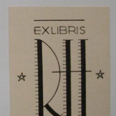 Arte: A.76 EX-LIBRIS EXLIBRIS PARA REN. HILD. R H ESTRELLA. Lote 109441419