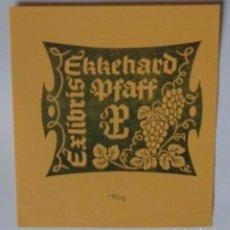 Arte: A.82 EX-LIBRIS EXLIBRIS ERICH AULITZKY, OPUS 6, 1981. UVAS. Lote 109444567