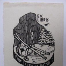 Arte: A.84 EX-LIBRIS EXLIBRIS SKOL. MOCHILA ESQUÍ NIEVE ABETO. Lote 109445059