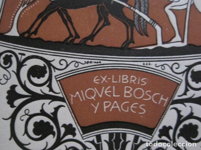 Arte: EX LIBRIS - MIQUEL BOSCH Y PAGES - TRIADO - VER FOTOS - (X-2128) - Foto 3 - 111815323