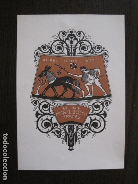 EX LIBRIS - MIQUEL BOSCH Y PAGES - TRIADO - VER FOTOS - (X-2128) (Arte - Ex Libris)