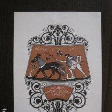 Arte: EX LIBRIS - MIQUEL BOSCH Y PAGES - TRIADO - VER FOTOS - (X-2128). Lote 111815323