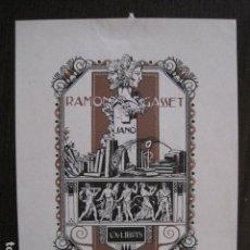 Arte: EX LIBRIS - RAMON GASSET - TRIADO - VER FOTOS - (X-2131). Lote 111816803