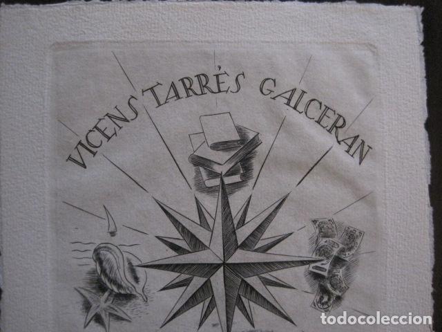 Arte: EX LIBRIS - GRABADO - VICENS TARRES GALCERAN - VER FOTOS - (X-2149) - Foto 2 - 111849655