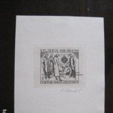 Arte: EX LIBRIS - GRABADO - DOKTOR HERTA UHLITZSCH - VER FOTOS - (X-2178). Lote 111851971