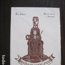 Arte: EX LIBRIS - GRABADO - MIQUEL BASSA I ARMENGOL - VER FOTOS - (X-2179). Lote 111852019