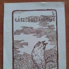 Arte: 1912 LAZLO QEZA KONYVE. Lote 112526527