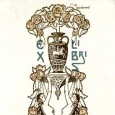 Arte: CASADEMUNT GIRALT M. (1881-1964). EX LIBRIS PARA SANTIAGO ROSAL. Lote 114075023