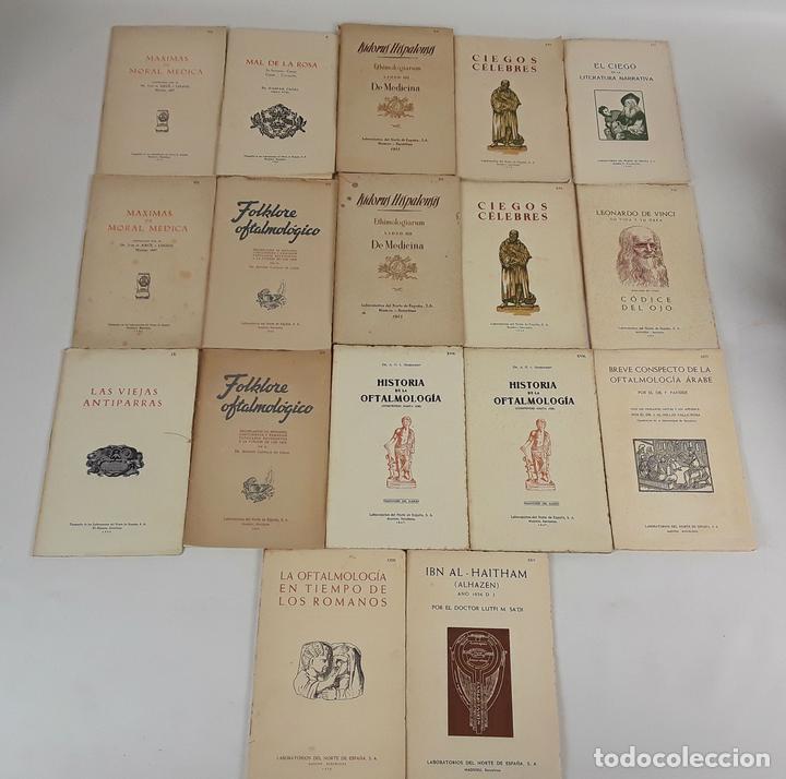 17 EXLIBRIS (5 REPETIDOS) LABORATORIOS DEL NORTE DE ESPAÑA. BARCELONA. 1931-57. (Arte - Ex Libris)