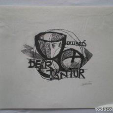 Arte: EX-LIBRIS EXLIBRIS ORIOL MARIA DIVÍ, OPUS 59. CÁLIZ PAN. Lote 114611455