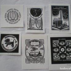 Arte: LOTE DE EX-LIBRIS EXLIBRIS HELMUT SEEHAUSEN. ESCORPIÓN SETA ASTRONOMÍA LIRA LEÓN BARCO CIGALA OJO. Lote 114611883