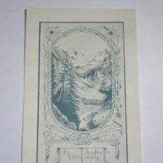 Arte: EX-LIBRIS EXLIBRIS ELSA BAESEKER PARA JORGE MONSALVATJE, 1906. MONTAÑA MONTAÑISMO. Lote 114612855