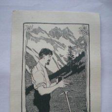 Arte: EX-LIBRIS EXLIBRIS A. SCHMID, 1909. MONTAÑA MONTAÑISMO FOTOGRAFÍA. Lote 114613239