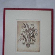 Arte: EX-LIBRIS EXLIBRIS FRANZ PILZ. FLOR. Lote 114613555