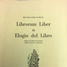 Arte: MARTÍN DE RETANA LIBRORUM LIBER O ELOGIO DEL LIBRO: ORLADA CON MILLARES DE PRECIOSOS EXLIBRIS. Lote 118249643
