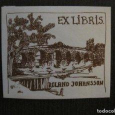 Arte: EX LIBRIS - ROLAND JOHANSSON - VER FOTOS - (X-2238). Lote 121273807