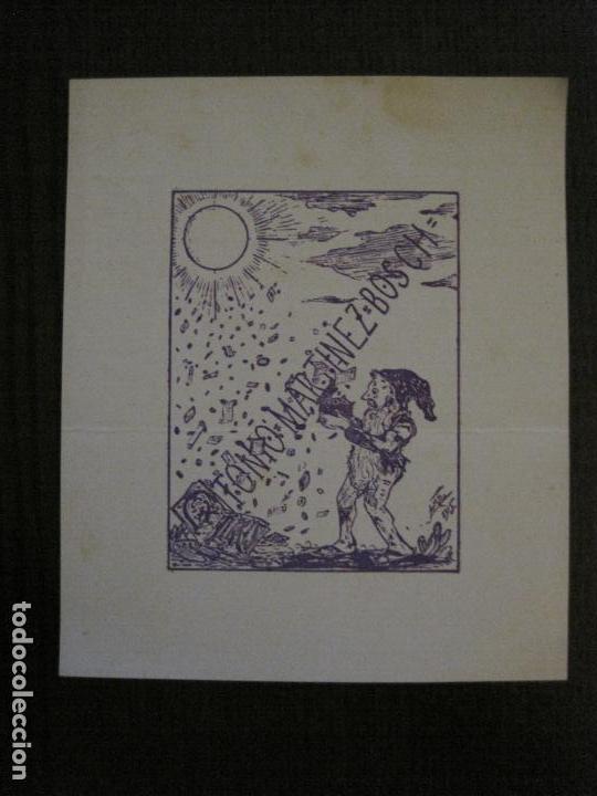 EX LIBRIS - TONIO MARTINEZ BOSCH - VER FOTOS - (X-2244) (Arte - Ex Libris)