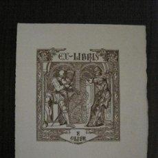 Arte: EX LIBRIS - F.OLIVA - VER FOTOS - (X-2250). Lote 121276531